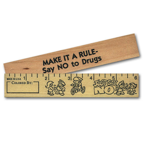 "Just Say No Color Me Ruler - 6"", Stock"