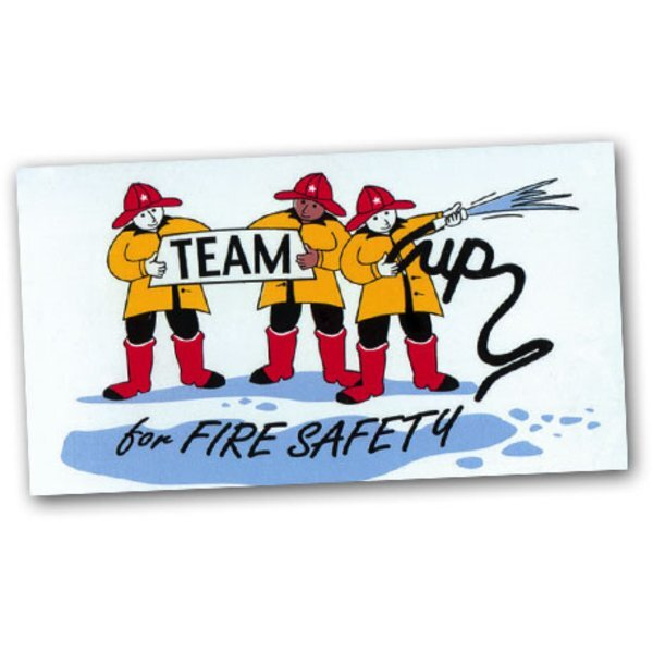 Team Up for Fire Safety, Stock Business Card Magnet