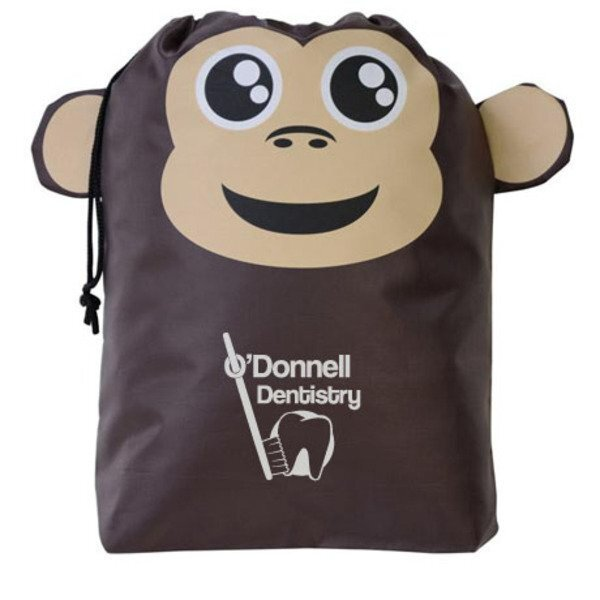 Paws N Claws Polyester Gift Bag - Monkey