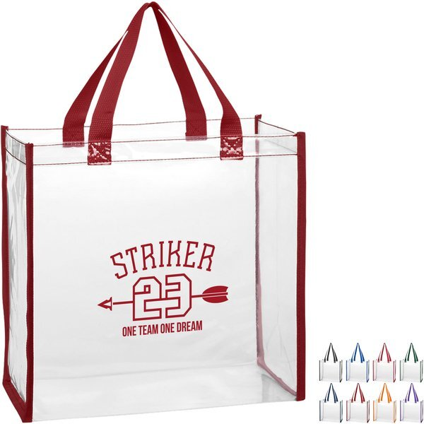 Clear Colored Trim PVC Tote
