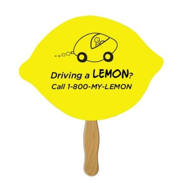 Lemon Lime Hand Fan