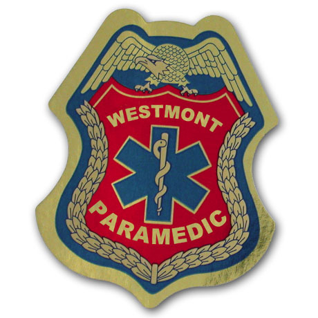 Junior Paramedic Foil Sticker Badge, Custom