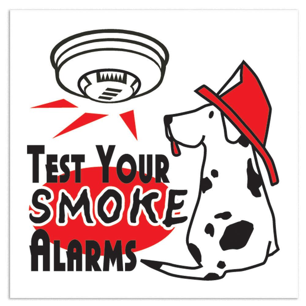 Test Your Smoke Alarms Temporary Tattoo, Stock