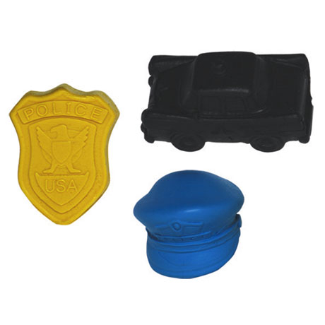 Police Collection Pencil Toppers, Stock