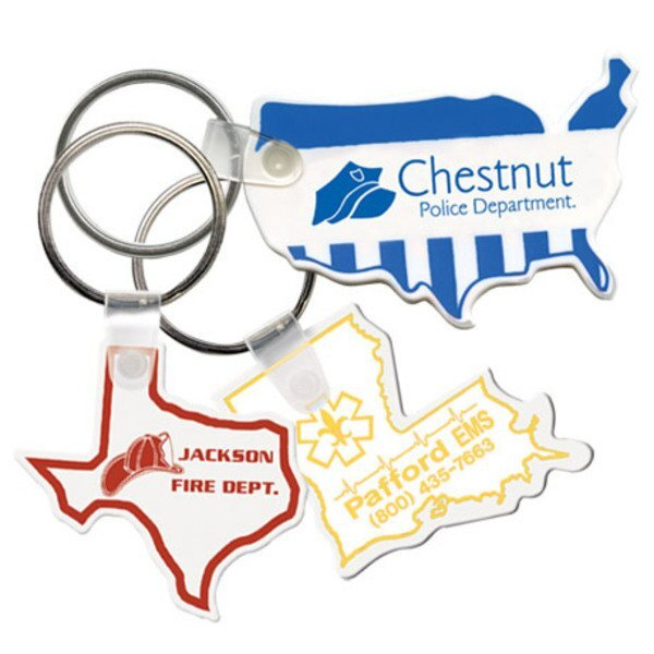 Soft Vinyl Key Tags, State Shapes