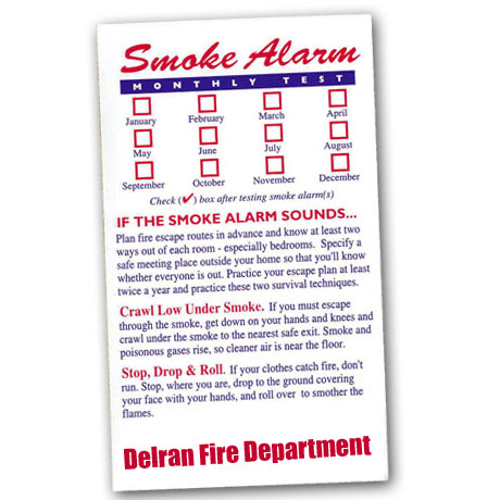 Healthy Message Magnets™, Smoke Alarm Test Magnet