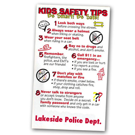 Healthy Message Magnet™, Kids Safety Tips