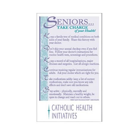 "Healthy Message Magnet™, ""Seniors - Take Charge..."