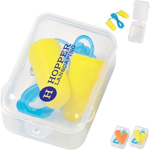 Corded Foam Ear Plug Set
