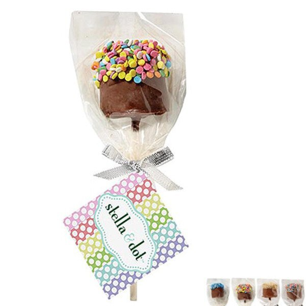 Chocolate Covered Marshmallow Pop