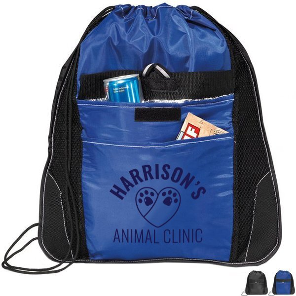 Elite Sport Polyester Cinchpack w/ Insulated Pocket