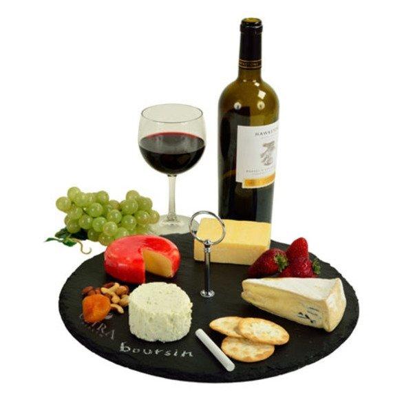 Selva Round Slate Cheese Board Set