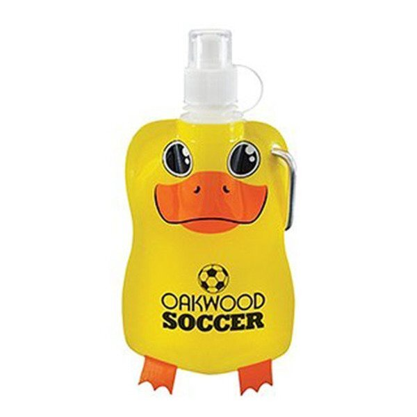Paws N Claws Flat Water Bottle, 12oz. - Duck