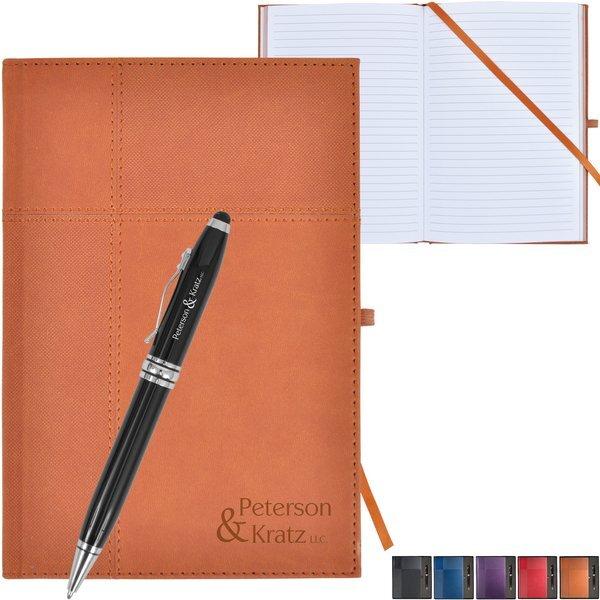 Duo-Textured Tuscany™ Journal w/ Executive Stylus Pen