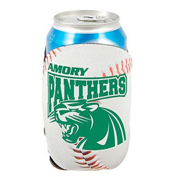 Baseball Action Can Cooler w/ Full Color Imprint