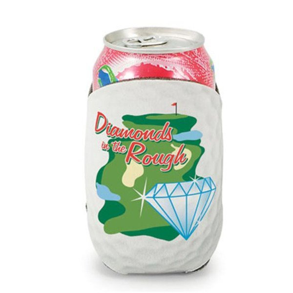 Golf Action Can Cooler w/ Full Color Imprint
