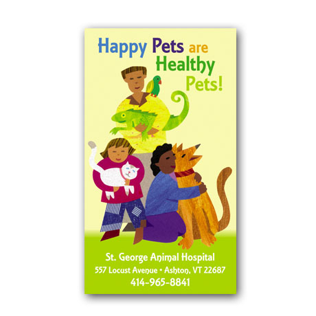 Happy Pets Design Full Color Magnet