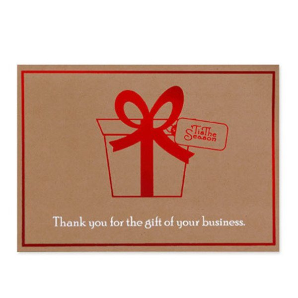 Thank You for the Gift of Your Business Holiday Greeting Card