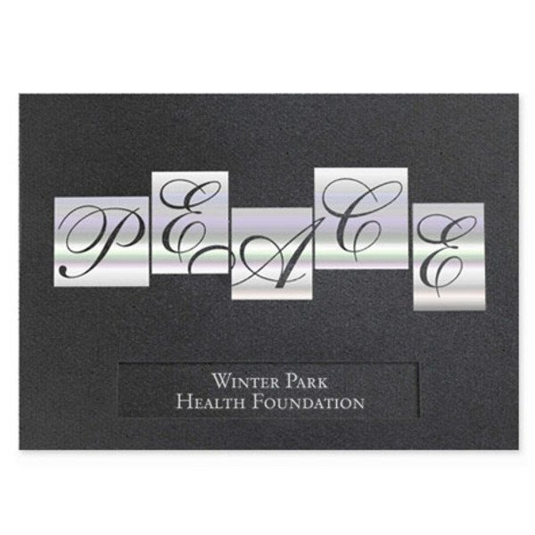 Peace Holographic Holiday Greeting Card