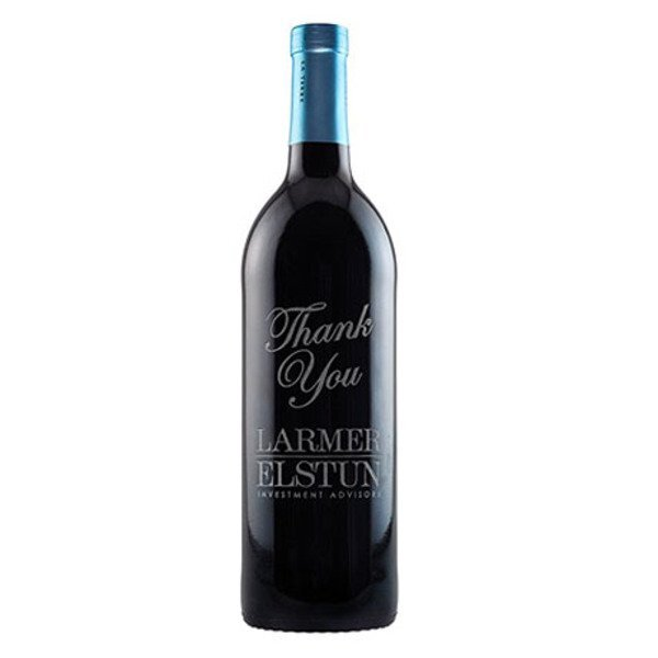 Merlot Red Wine, Etched, 750ml