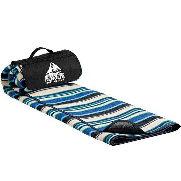 "Roll-Up Picnic Blanket - Mountain Stripe, 59"" x 53"""