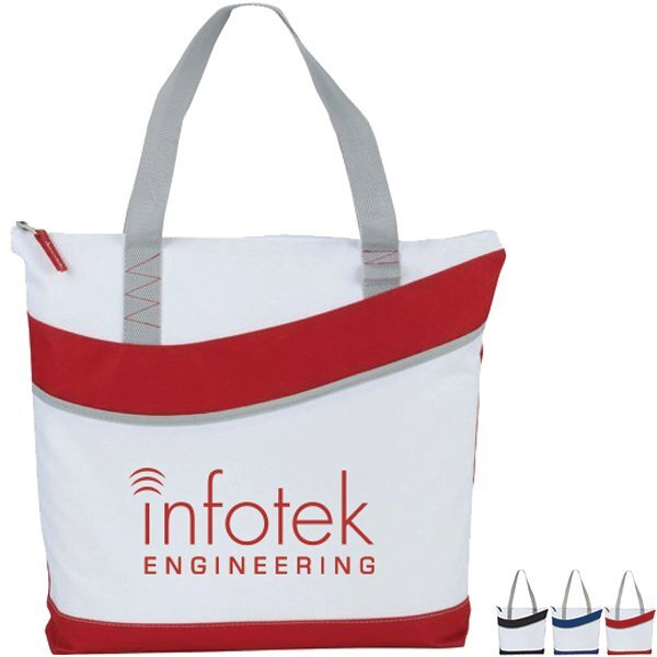 Crescent Zippered Polycanvas Convention Tote