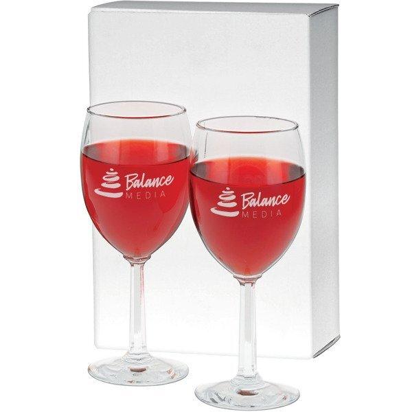 Napa Valley Wine Glass Gift Set,  8oz.