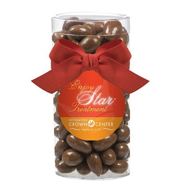 Elegant Large Gift Tube w/ Chocolate Almonds