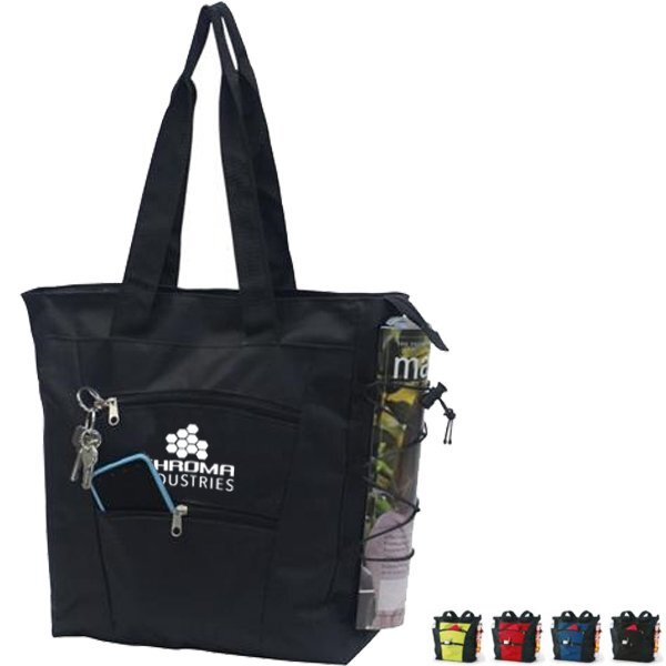 Fashionista Zipper Pocket 600D Polyester Tote