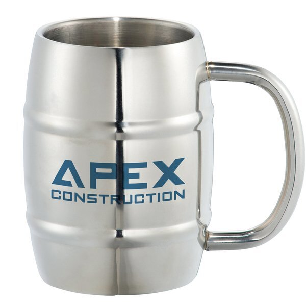 Growl Stainless Barrel Mug, 14oz.