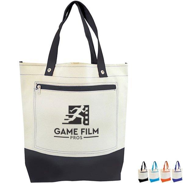 Salaris Color Accent Polycanvas Tote Bag