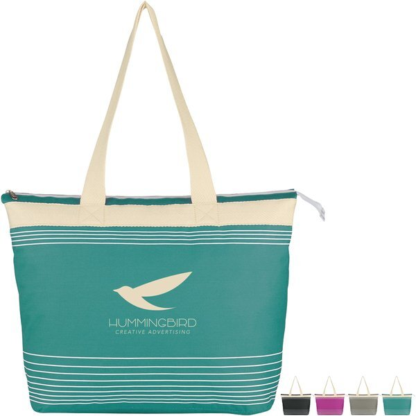 Lucia Accent Striped Polycanvas Tote
