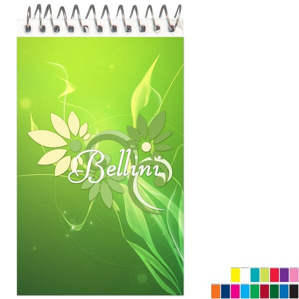 """Spiral Bound Full Color Jotter Pad, 3"""" x 5"""""""