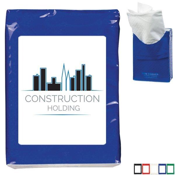 Mini Tissue Packet w/ Full Color Imprint