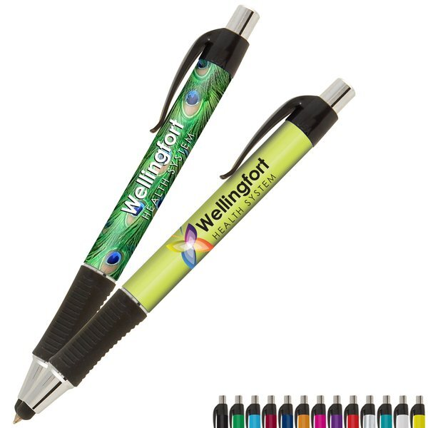 Vision Grip EverSmooth Ink® Ballpoint Stylus Pen w/ Full Color Imprint