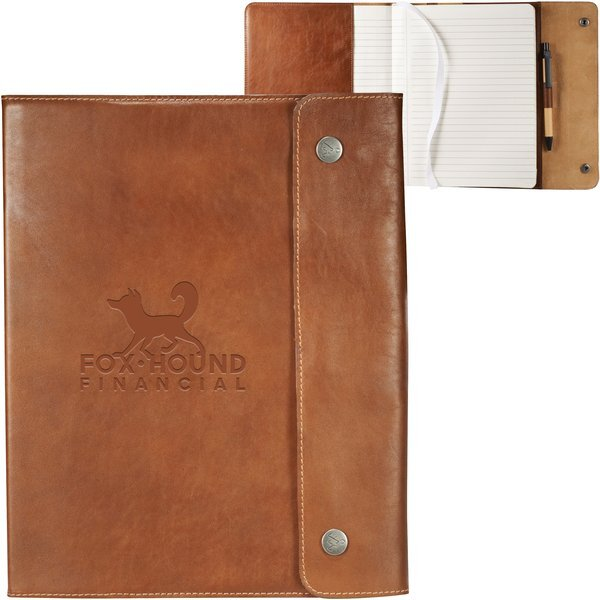 "Alternative® Leather Refillable Journal, 7-1/2"" x 9-17/25"""