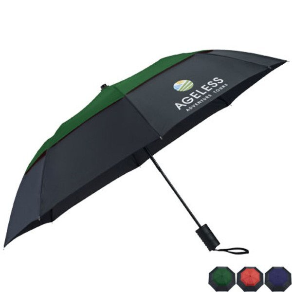 "Cambridge Vented Windproof Umbrella, 42"" Arc"