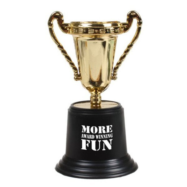 Plastic Gold Cup Award Trophy