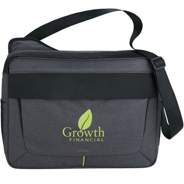 Zoom® Power Stretch Polyester Compu-Messenger Bag