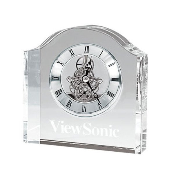 Crystal Gear Desk Clock