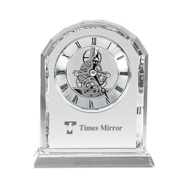 Crystal Arch Desk Clock
