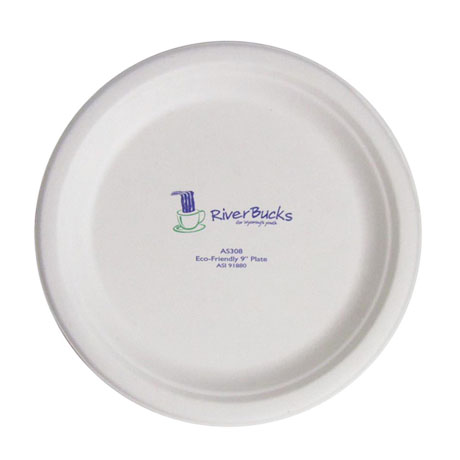 """Biodegradable Round Paper Plate, 9"""""""
