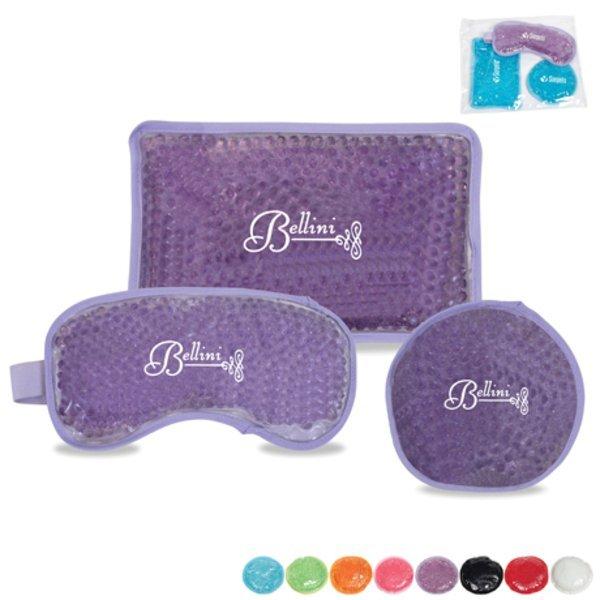 Plush Aqua Pearls Hot/Cold Pack Gift Set