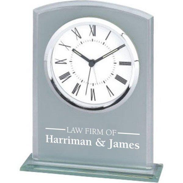 Glass Arch Desk Clock
