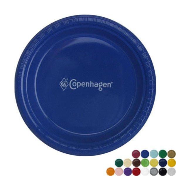 "Round Plastic Plate, 9"""