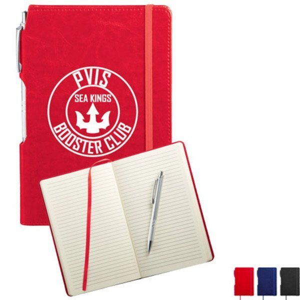 "Viola Notebook with Metal Pen, 8-1/4"" x 5-3/4"""