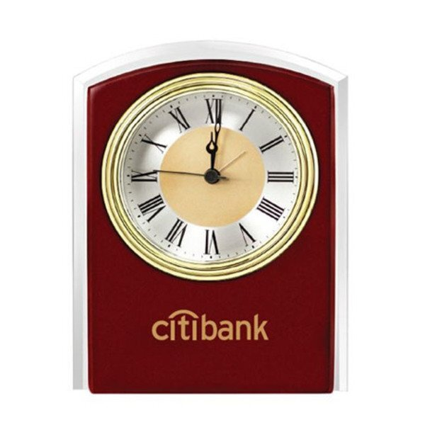 Atlantis Mahogany Desk Clock