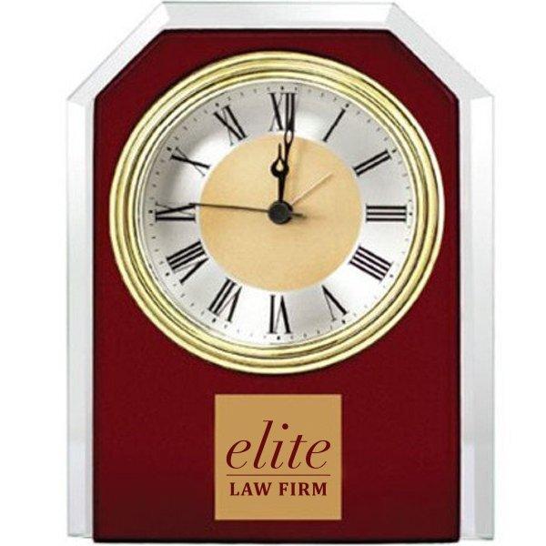 Endeavor Mahogany Desk Clock