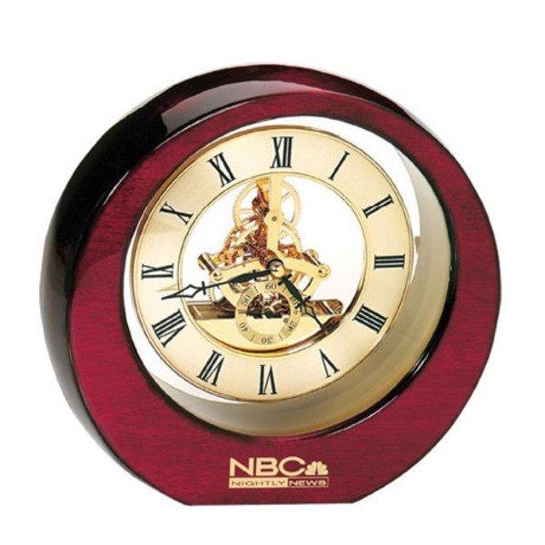 Hi-Gloss Gold Gear Desk Clock