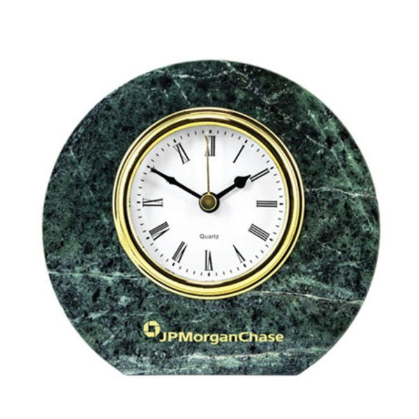 Round Marble Desk Clock